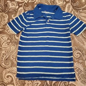Children's Place Boys Blue Striped Collared Shirt